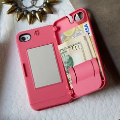EYN Case for iPhone 4/4S and 5 from eyn on OpenSky. It opens from the back to put money in.