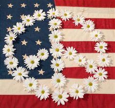 ☮ American Hippie America ~ Daisy Peace Sign