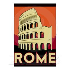rome italy coliseum europe vintage retro travel posters from Zazzle.com