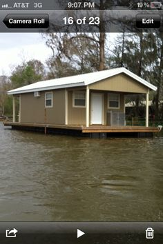 House Barges For Sale Louisiana House Boat For Sale In Houma - - jpeg Barges For Sale, House Boats For Sale, Houseboat Living, Lakefront Property, Houma Louisiana, Floating House, River House, Affordable Housing, Building A House