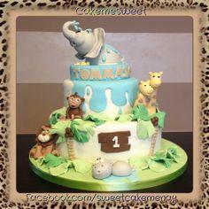 Jungle cake - first birthday cake - kids cake