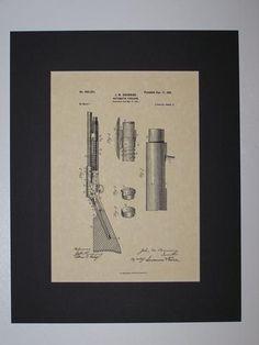 Browning Automatic Firearm 1901 sheet 2 Patent drawing HistoricPatentArt.com Gun