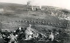 German Saxon Jaeger troops in action near Monastir (now Bitola), Macedonia, during the First World War.