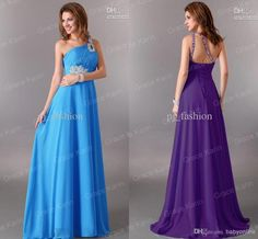 Wholesale Celebrity Dresses - Buy 2013 Custom Made Flow Chiffon One Shoulder Bridesmaid Dresses Floor Length Sequins Sleeveless A Line Celebrity Evening Dresses, $69.0 | DHgate
