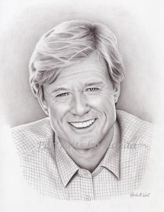 Robert Redford by rondawest {from USA} ~ pencil portrait