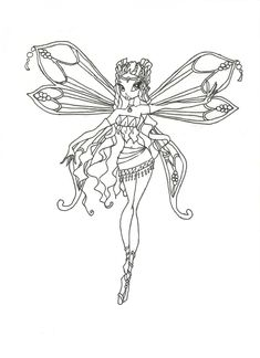 Winx Club Enchantix Layla coloring page by winxmagic237.deviantart.com on @DeviantArt