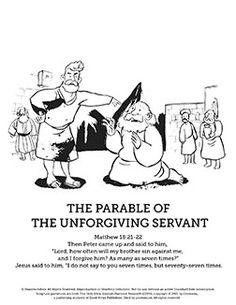 The Unforgiving Servant Is A Powerful Parable Of Jesus In This SharefaithKids Sunday School Coloring PagesSunday LessonsBible