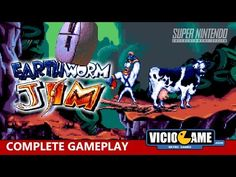 🎮 Earthworm Jim (Super Nintendo) Complete Gameplay: http://wp.me/p90oS-Pt #viciogame