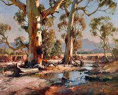 'North of Wilpena, Flinders Ranges' Ivars Jansons 1939 - 2017 Watercolor Landscape, Landscape Art, Landscape Paintings, Watercolor Art, Australian Painting, Australian Artists, Australia Landscape, Art Aquarelle, Aboriginal Art