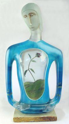 ROBIN GREBE | Cast Glass Sculpture by Robin Grebe at Schantz Galleries