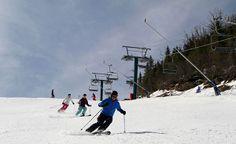 Skiing at @Loon Mountain @Ski NH on Flume - great NH ski trail! http://luxuryskitrips.com/loon-photos.htm