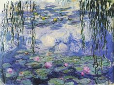 My all-time favorite impressionist, Claude Monet.  One of his famous Waterlillies.  I love the way he set up several canvases to capture the light at different times of day.