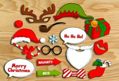 Free Printable Christmas Photo Booth Props