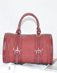 Bonito estilo acadêmico PU couro Bolsa para mulheres - Milanoo.com