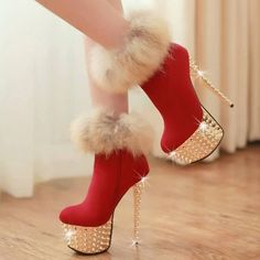 Latest Chalany High Heels Footwear's for Women on Christmas 2014 - New Fashion Lake