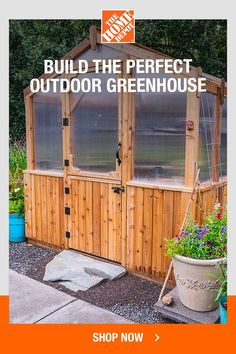 Backyard Greenhouse, Greenhouse Plans, Front Yard Landscaping, Backyard Landscaping, Outdoor Projects, Garden Projects, Backyard Buildings, Garden Bulbs, Outdoor Living