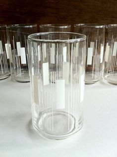 Vintage Tumblers, set of 6 #Drinking_Glasses #Vintage