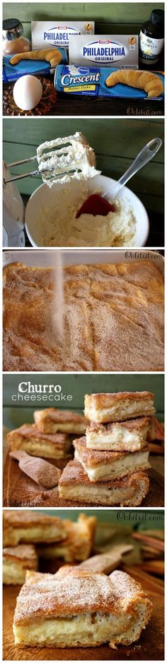 Churro Cheesecake Bars See more http://recipesheaven.com/paleo