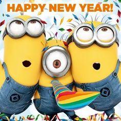 Happy New Year! via www.Facebook.com/DespicableMe