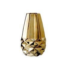 Vase, goldfarben Porzellan from desiary.de :: Fine living accessoires