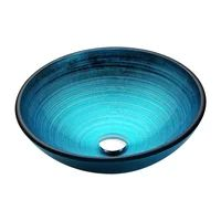 ideas for bathroom sink bowl glass vessel blue
