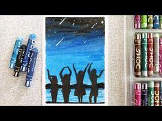 Easy oil pastel drawing for beginners - Best friends - Oil Pastel Drawings Easy, Oil Pastel Art, Easy Drawings, Albrecht Durer Praying Hands, Albrecht Durer Paintings, Drawings Of Friends, Drawing Studies, Drawing For Beginners, Landscape Drawings