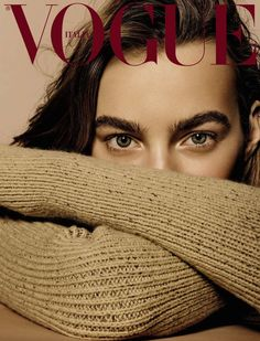Anne Christensen styles model Maartje Verhoef in nude, toasty sweaters and lingerie, lensed by Richard Burbridge for Vogue Italia November Hair by Ward Stegerhoek; makeup by Kanako Takase Vogue Magazine Covers, Fashion Magazine Cover, Fashion Cover, Vogue Covers, Lauren Hutton, Eyebrow Trends 2017, Beauty Editorial, Editorial Fashion, Richard Burbridge