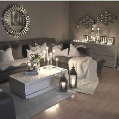 49 Small Cozy Living Room Decor Ideas For Your Apartment Living Room Decor Cozy, Living Room Grey, Home Living Room, Apartment Living, Living Room Designs, Living Room Furniture, Cozy Apartment, Apartment Furniture, Living Room Decor Themes