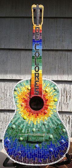 Colorful Mosaic Guitar