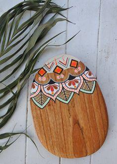 Image of 'Flower Sunset' Wooden Painting, Wooden Art, Wood Crafts, Paper Crafts, White Cedar, Painted Flower Pots, Mandala Rocks, Wood Burning Art, Craft Day