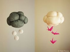 It's spring, so that means for much of the country, it's spring showers! Reflect the season in your baby's room with one of these cute DIY cloud mobiles.