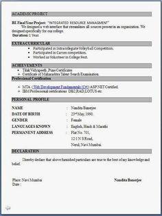 Image Result For Network Resume Format  Desktop