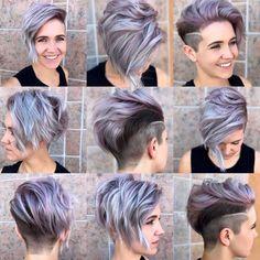 80 Best Pixie Cut Hairstyles - Trending Pixie cuts For Women 2019 - Hair Styles Short Pixie Haircuts, Pixie Hairstyles, Short Hairstyles For Women, Short Hair Cuts, Cool Hairstyles, Short Shaved Hair, One Side Shaved Hairstyles, Punk Pixie Haircut, Shaved Pixie Cut