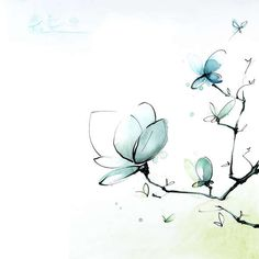 Blule - Blue Magnolia - Japanese Theme