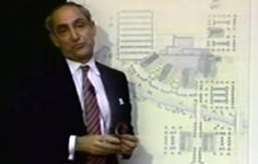 Robert A. Stern, speaking in Columbus about his proposal for Columbus Hospital Proposal, Indiana, Architects, Breast, Suit Jacket, Artists, Suits, Suit, Wedding Suits