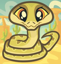 how to draw a baby snake