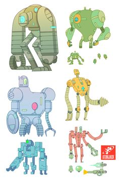 Gorgeous 'bot designs from Atomic Jack Games