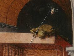 snagamat:  Death and the Miser (detail), a Hieronymus Bosch painting, National Gallery of Art, Washington DC