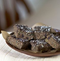 Double Chocolate Zucchini Brownies #Paleo #Primal