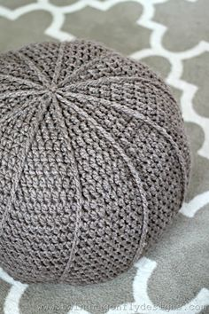 Crochet Floor Pouf Pattern #crochet #floorpouf