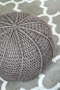 Crochet Floor Pouf Pattern - DIY
