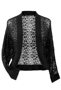 Avenue Plus Size Crochet Shrug  OMG!!! gotta have this!!!!!