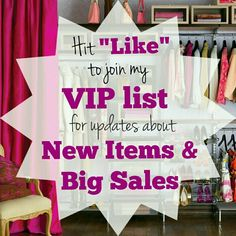 """Like"" to get 1st Pick of New Items & Big Sales! New: BR cashmere sweater. RL cable knit sweater. Laundry blazer. Sequin sweater.   Coming soon: F21 jeweled top M. Isaac Mizrahi chambray jacket L.  James jeans 27. Limited angora top M. Banana Republic skirt M. Nike lavender crops. WHBM snow leopard print sweater tank. French Connection dress. UA top. VS bras. Sweaters. Tops. Athletic. Jackets & Coats. MORE!  Sizes XS-XL! Shoes 6.5-8. If you're looking for specific Size, Style, Brand, let me…"