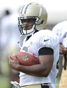 RB Darren Sproles at the 2012 #Saints Training Camp presented by #Verizon on Saturday, July 28, 2012.