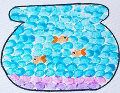 Thumbprint Fishbowl | AllFreeKidsCrafts.com