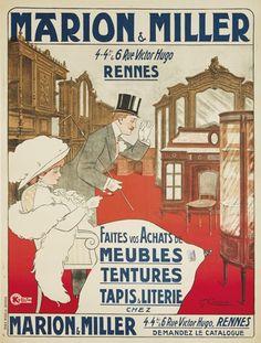 Marion & Miller. 4 et 6 rue Victor Hugo, Rennes - Faites vos achats de meubles, tentures, tapis et literie - 1911 -  (Carenove) -