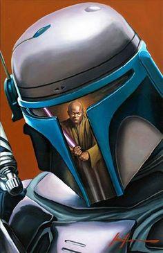 Star Wars Reflection  Boba fett and mace windu  Epic pic