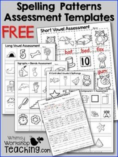 Free pictures organized into spelling pattern lists for quick and easy assessment. Includes a checklist for each student (free) Spelling Activities, Teaching Activities, Teaching Reading, Teaching Art, Teaching Ideas, Spelling Ideas, Learning, Listening Activities, Teaching Phonics
