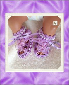 ORIGINAL DESIGNER  Baby Christening Shoes with by ReservedForKids, $34.00