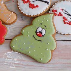 Recipes Christmas Cake Sugar New Ideas Christmas Cookies Packaging, Cute Christmas Cookies, Iced Cookies, Holiday Cookies, Christmas Desserts, Christmas Treats, Christmas Baking, Fancy Cookies, Cute Cookies